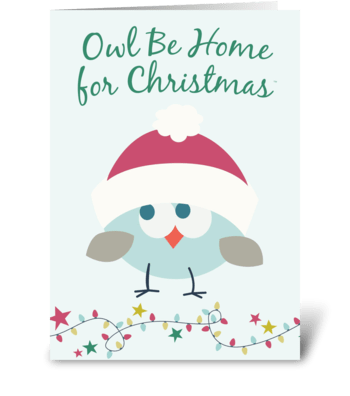 Owl Be Home for Christmas™ - 1 greeting card