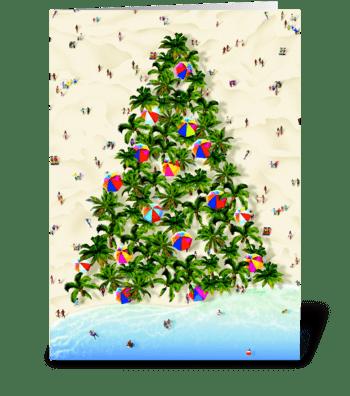 Tropical Tree greeting card
