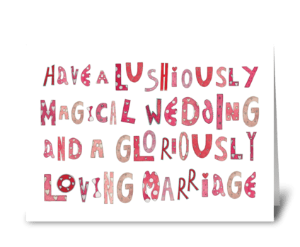 Magical Wedding Loving Marriage greeting card