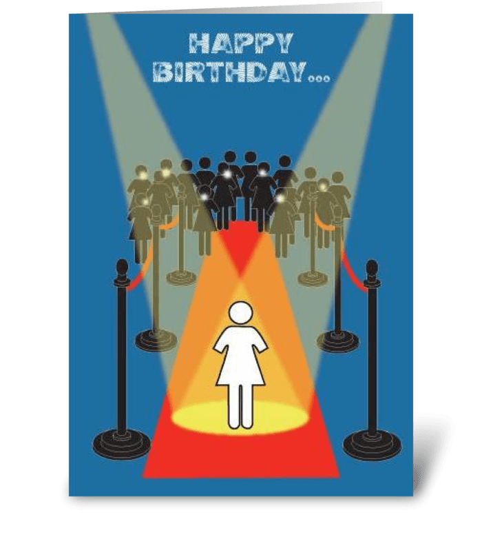 Superstar Birthday greeting card