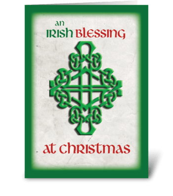 Irish Blessing at Christmas greeting card