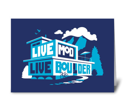 Live Mod, Live Boulder greeting card