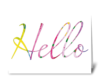 A delightful card to say hello! greeting card