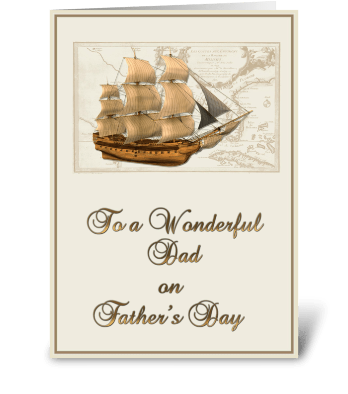 Tall Ship, Father's Day  greeting card