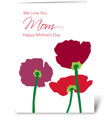 Mother's day flowers greeting card
