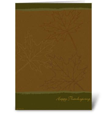 Graphic Leaves Thanksgiving Card greeting card
