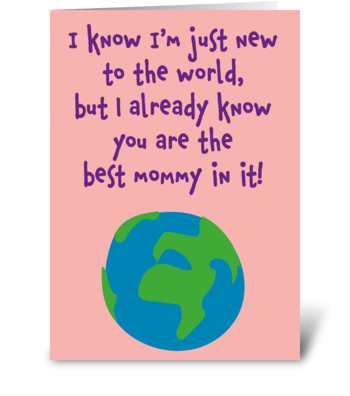 Baby Mother's Day Card greeting card