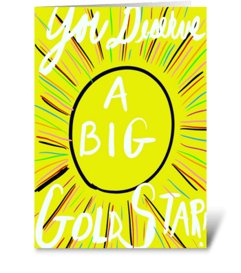 Big Gold Star greeting card
