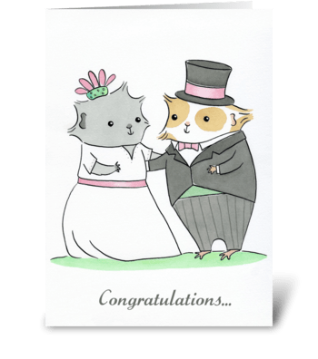 Guinea-pig Wedding greeting card