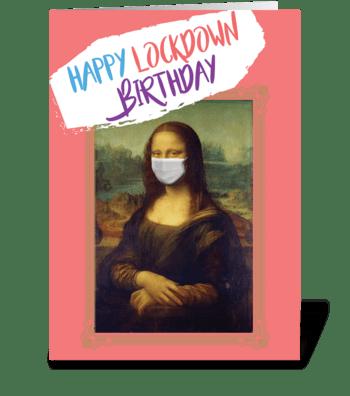 Corona Lisa greeting card