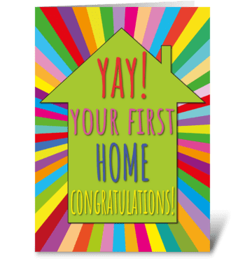 113 First Home Congratulations! greeting card