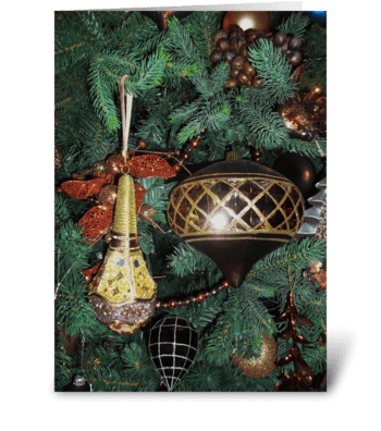 Holiday Gold greeting card