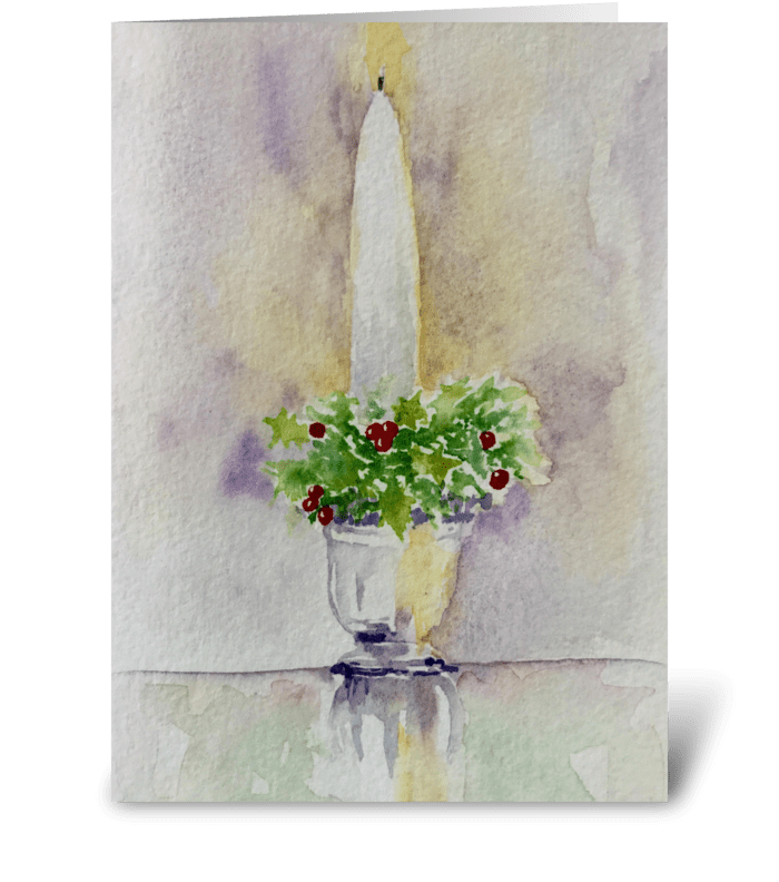 Advent Altar: Christ Candle greeting card