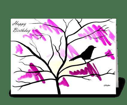 A splash of Spring greeting card