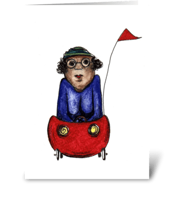 My Wheels or Yours? greeting card