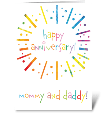 72 Mommy & Daddy Anniversary greeting card