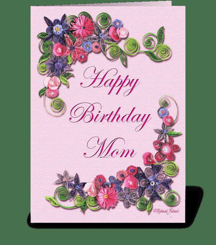 Mom's Birthday greeting card