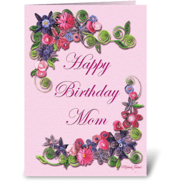 Mom's Birthday greeting card