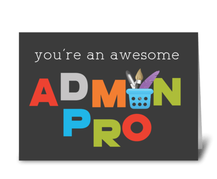 Awesome Admin Pro on Admin Pro Day greeting card