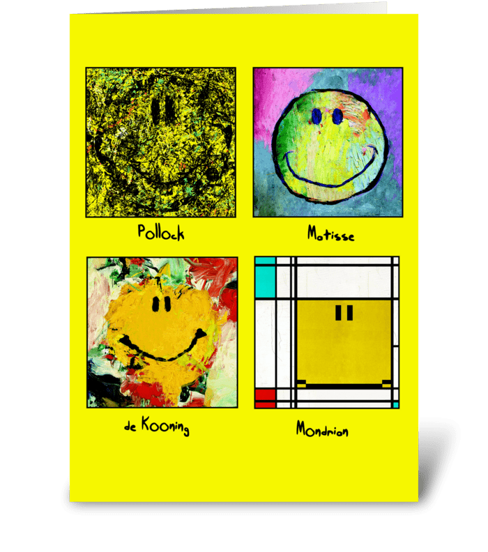 world's greatest artist greeting card