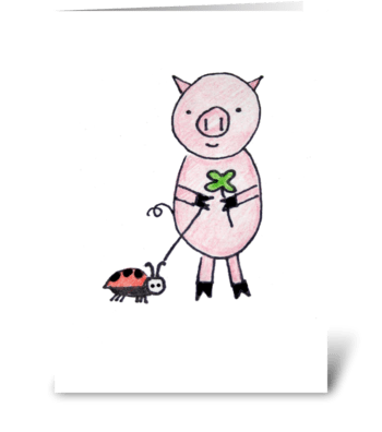 Lucky Pig greeting card