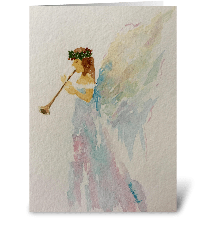 Heralding Angel: Hallelujah  greeting card