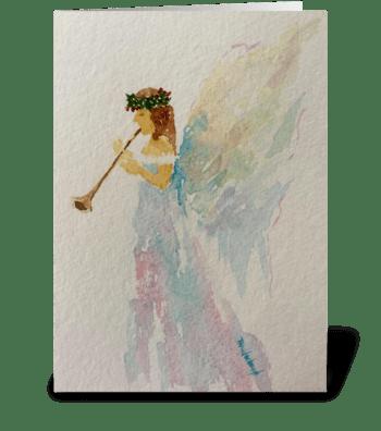 Heralding Angel: Hallelujah  greeting card