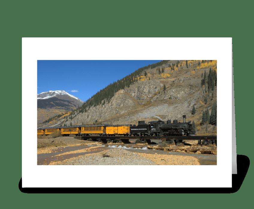 The Durango to Silverton Railroad greeting card