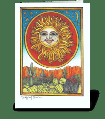 Blazing Sun greeting card