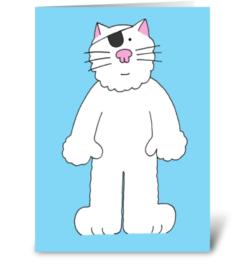 Speedy recovery from eye problem fun cat greeting card