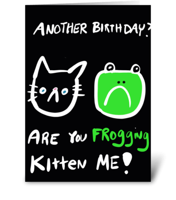 Frogging Kitten Me! greeting card