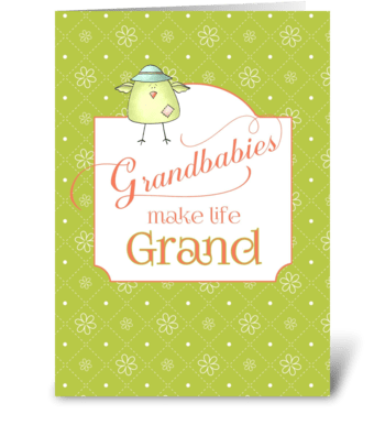 Congratulations New Grandchild - Grandba greeting card
