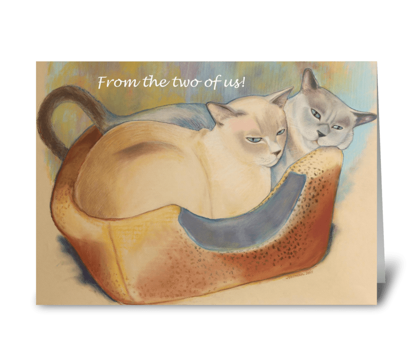Tonkinese Birthday From Two of Us greeting card