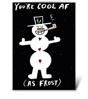 Cool Snowman greeting card