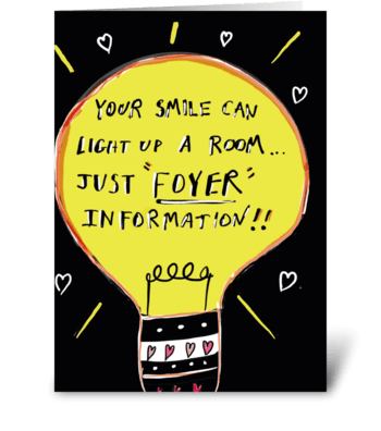 Just Foyer Information greeting card