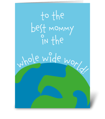 Best Mommy card greeting card