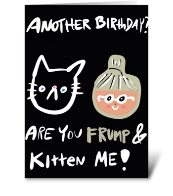 Frump and Kitten greeting card