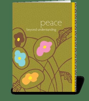 peace beyond understanding greeting card