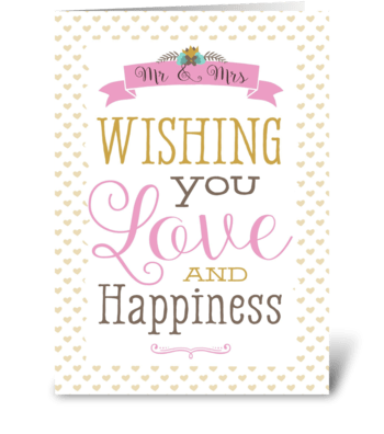 Love & Happiness greeting card