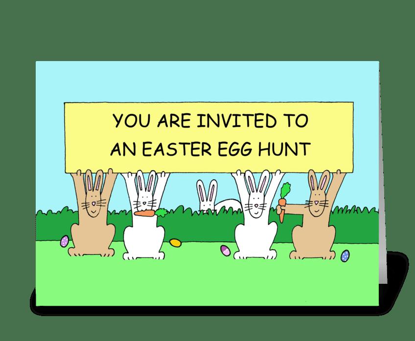 Easter Egg Hunt Invitation. greeting card