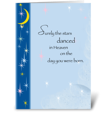 Stars in Heaven, Birthday greeting card