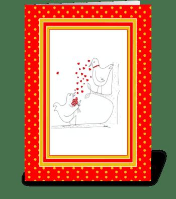 Valentine's Tweet Heart greeting card