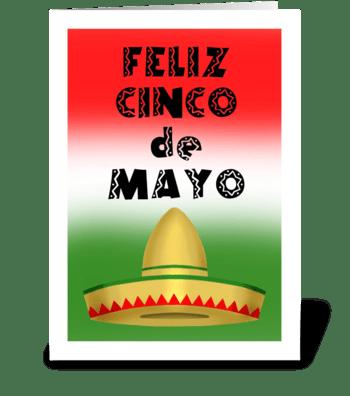Feliz Cinco de Mayo greeting card