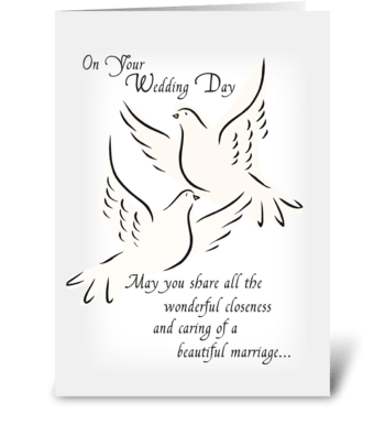 Wedding Doves, Congratulations greeting card
