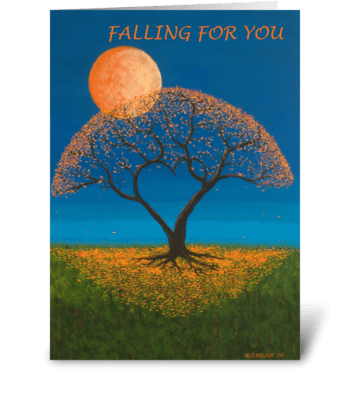 Falling For You greeting card