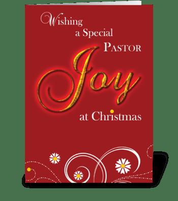 Priest, Joy at Christmas greeting card