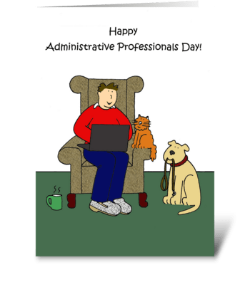 Administrative Professional Day Cartoon greeting card