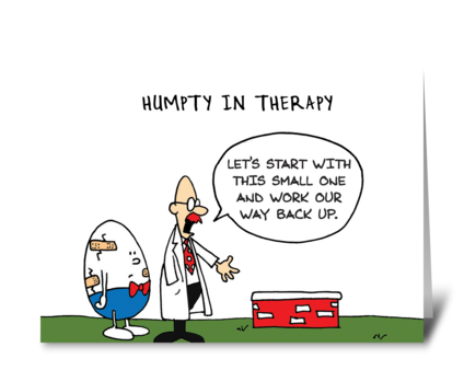 Humpty Dumpty in Therapy greeting card
