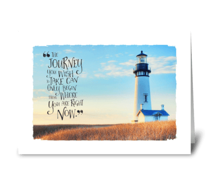 The Journey greeting card