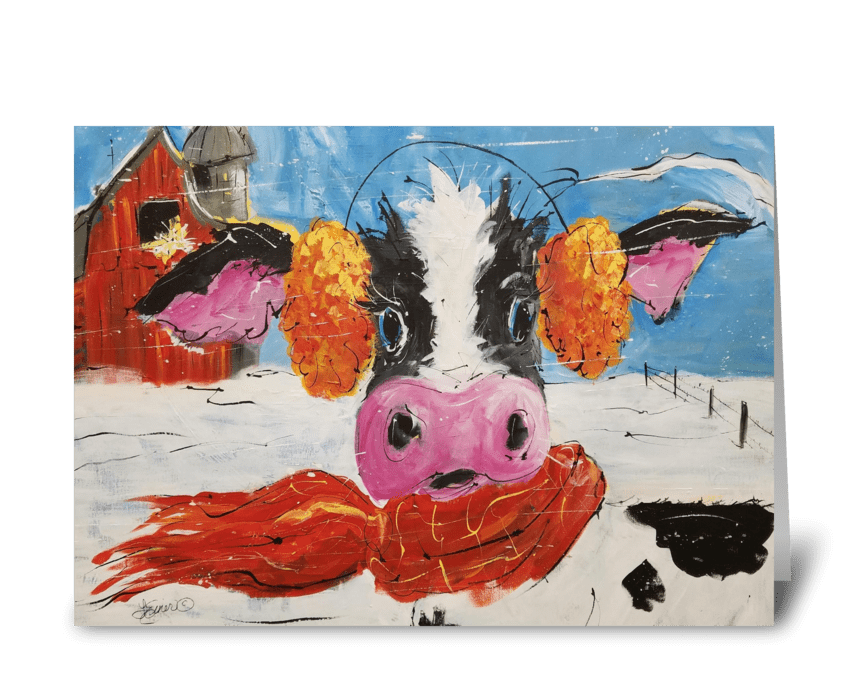 Wis-cow-sin Winter greeting card